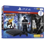 PlayStation 4 Slim Konzole 1TB + The Last of Us + Uncharted 4 + Ratchet & Clank
