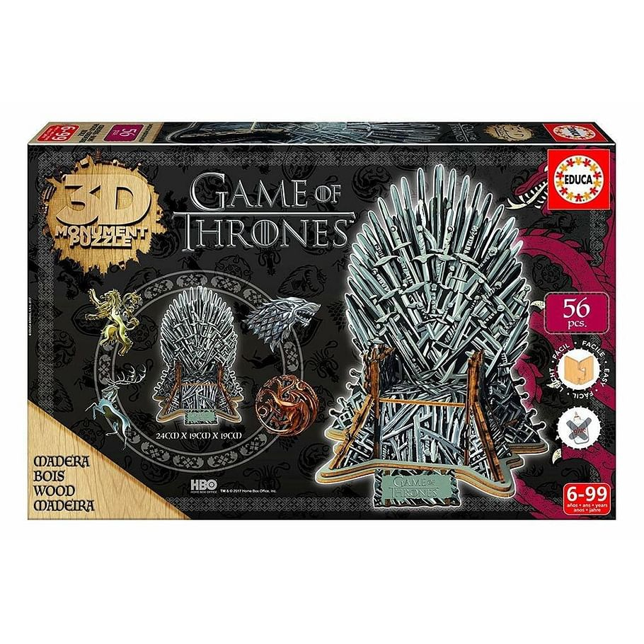 Puzzle Game of Thrones: 3D Železný trůn