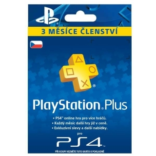 PlayStation Plus Card 90 Days CZ