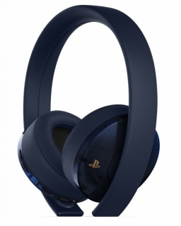 Sony PS4 Gold/Navy Blue Wireless Headset - 500M Limited Edition