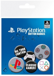 Placka Playstation Set 6 placek